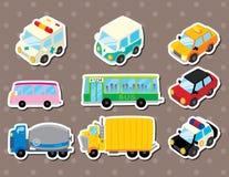 Cart stickers. Cute cartoon vector illusttration Stock Photo