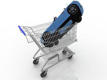 Cart from a supermarket Royalty Free Stock Photography