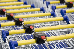 Cart supermarket Royalty Free Stock Photos