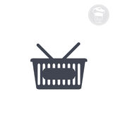 Cart supermarket. Simplified representation, vector computer icon Stock Photography