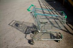 Cart supermarket Royalty Free Stock Photography