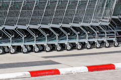Cart supermarkets Royalty Free Stock Images