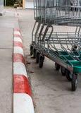 Cart supermarkets Stock Image