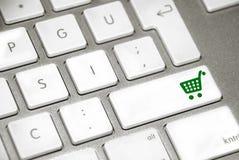 cart tangentbordshopping Royaltyfria Bilder