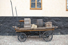 Cart with things Stock Images