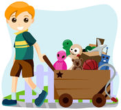 Cart of Toys Stock Image