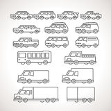 Cart Types Outline Icons Stock Photo