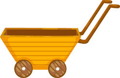 Cart vector. Cart illustration of isolated on white background Royalty Free Stock Photos
