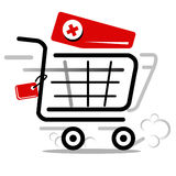 Cart vector icon Royalty Free Stock Images
