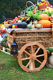 Cart with vegetable Stock Photo