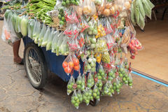 Cart with vegetable. Royalty Free Stock Photos