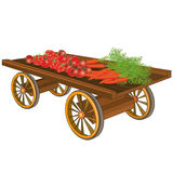 Cart with vegetables Stock Photography