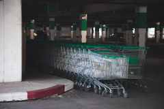 Cart was placed inside the building Royalty Free Stock Photography