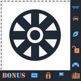 Cart Wheel icon flat royalty free illustration