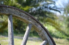 Cart Wheel. An Old car-whell in abandoned Wine Factory - Uruguay Stock Image