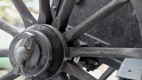 Cart wheel rotates stock video