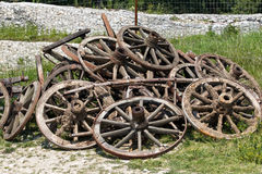 Cart wheels Stock Images