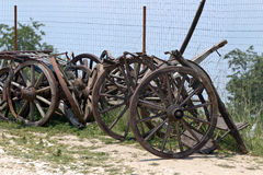 Cart wheels Stock Photography
