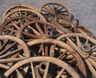 Cart wheels Stock Photo