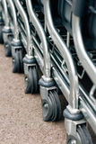 Cart wheels. Detail of a shopping cart Stock Photography