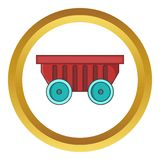 Cart on wheels vector icon Stock Images