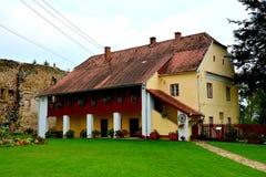 Carta中世纪修道院的管理在锡比乌, Transilvania附近的 库存图片