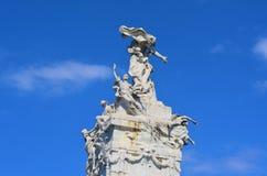 Carta优秀大学毕业生纪念碑阿根廷,布宜诺斯艾利斯 免版税库存图片