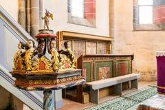 Carta修道院,特兰西瓦尼亚,罗马尼亚 免版税库存图片