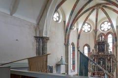 CARTA,罗马尼亚- 2017年8月13日, :一个chatolic教会的内部 图库摄影