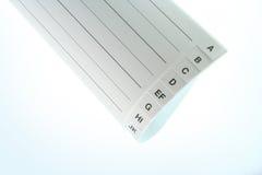 Carta-índice Foto de archivo