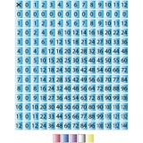 Carta 0 a 12 da multiplicação Imagem de Stock