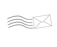 Carta ilustración del vector