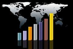Carta 3D colorida abstrata Imagem de Stock