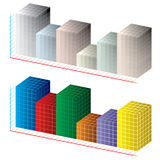 Carta abstracta 3D ilustración del vector