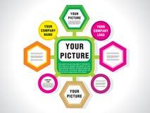 Carta abstrata da bandeira Fotos de Stock