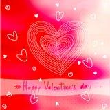 Carta adorabile del biglietto di S. Valentino Illustrazione di vettore Immagine Stock Libera da Diritti