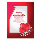 Carta adorabile felice di giorno di biglietti di S. Valentino Immagini Stock