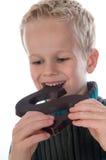 Carta agradable del chocolate Imágenes de archivo libres de regalías