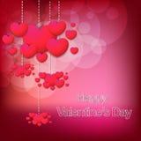 Carta alla moda felice di giorno di biglietti di S. Valentino Fotografia Stock