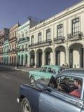 Carta americana classica sulla strada a Avana, Cuba immagine stock