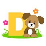 Carta animal del alfabeto - D Foto de archivo