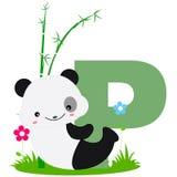 Carta animal del alfabeto - P Imagen de archivo libre de regalías