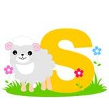 Carta animal del alfabeto - S Imagen de archivo libre de regalías