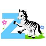 Carta animal del alfabeto - Z Imagen de archivo libre de regalías