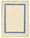 Carta antica con la struttura decorativa ed i bordi lacerati Fotografia Stock Libera da Diritti