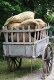 Carta antica del trasporto con i sacchi Fotografia Stock