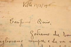 Carta antigua Imágenes de archivo libres de regalías