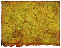 Carta antigua 1910 del mar Ilustración del Vector