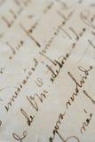 Carta antigua Foto de archivo libre de regalías