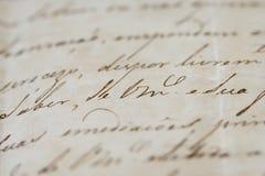 Carta antigua Fotos de archivo